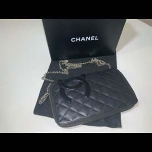 Authentic Chanel cambon zippy organizer wallet WOC